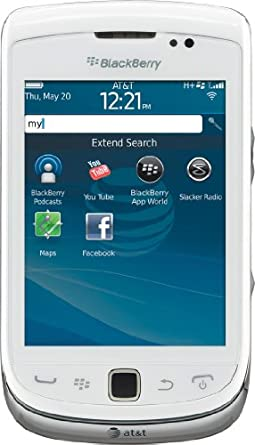 BlackBerry Torch 4G 9810 Phone, White (AT&T)
