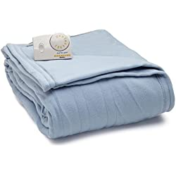 Biddeford 1020-9032108-535 Comfort Knit Fleece Electric Heated Blanket Twin Blue
