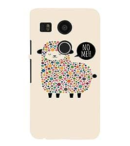 EPICCASE Dotted Sheep Mobile Back Case Cover For LG Nexus 5x (Designer Case)