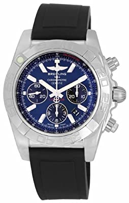 Breitling Men's AB011012/C789 Chronomat B01 Blue Chronograph Dial Watch