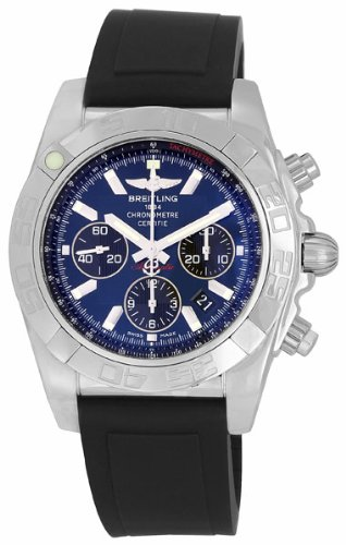 Breitling Men's AB011012/C789 Chronomat B01 Blue Chronograph Dial Watch