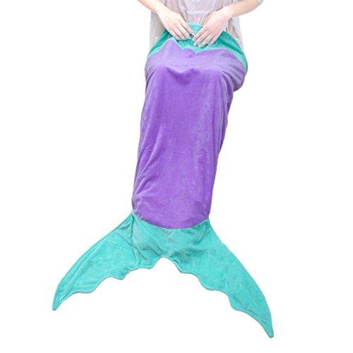 Goodlucky365 Mermaid Decke Sofa Decke (Alter 3-12) (lila + Grün) thumbnail
