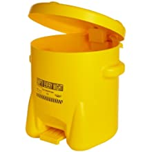 Eagle Polyethylene Oily Waste Safety Can with Foot Lever