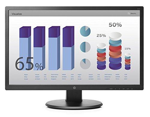 HP V243E 60,9cm (24 Zoll) Monitor (VGA, DVI, 5ms Reaktionszeit) schwarz