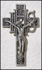 Blessed By Pope Benedict XVI IHS Wall Crucifix