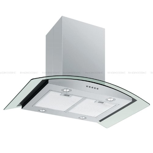 Euro Kitchen Brushed Stainless Steel 198D-I42M Island Mounted Range hood