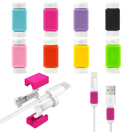 AmyTalk 充電ケーブル プロテクター 保護 USBケーブルの断線を防止 iPhoneケーブルプロテクター iPhone6 Plusケーブル 保護 (ローズレッド)