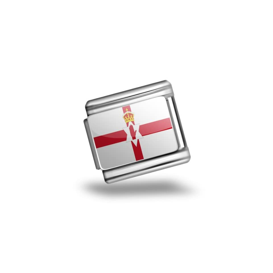 Italian Charms Original Northern Ireland Flag region United Kingdom Bracelet Link