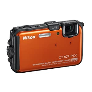Nikon COOLPIX AW100 16 MP CMOS Waterproof Digital Camera with GPS and Full HD 1080p Video