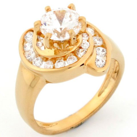 9ct Gold Swerly Channel Set Fancy Engagement Ring