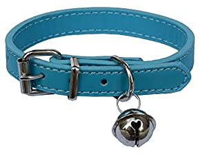 """Fashion Leather Pet Collars for Cats,baby Puppies Dogs,adjustable 8""""-10.5"""""""