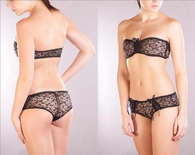 Damen Unterwäsche Set, Dessous Bustier, Panty mit Spitze Bustier, von M-Mala, DE-7683