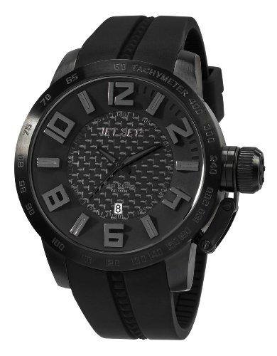 Jet Set - J6830B-267 - San Remo - Montre Homme - Quartz Analogique - Cadran Noir - Bracelet Caoutchouc Noir