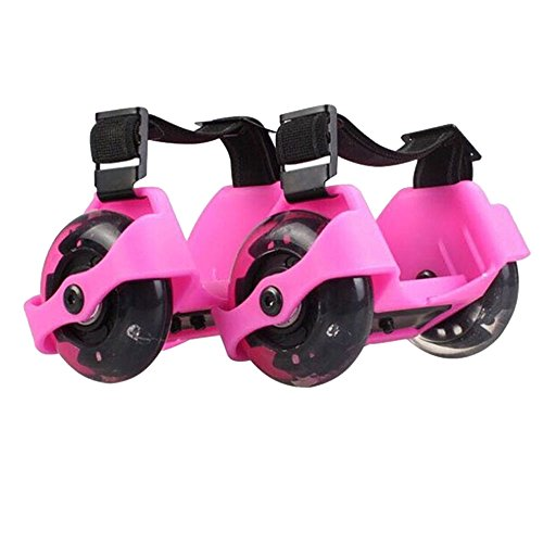 Flash Heelys Roller Skates/ Ruote da scarpe regolabile Hot Wheels Skating Scarpe,16.5 x 9 x8 cm, Rosa