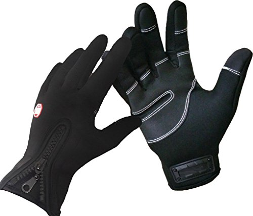 [Wonzone Outdoor Cycling Glove Touchscreen Gloves for Smart Phone(Black S)] (Roller Skating Costumes)