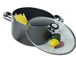 Royal Cook Heavy Gauge Aluminum Non-Stick Stock Pot with Glass Lid, 18 Quart
