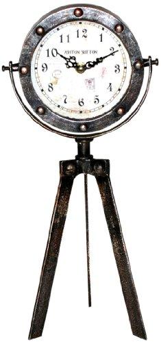 Ashton Sutton GT1041 Metal Table Clock on Tripod