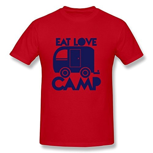 Eat Love Camp Man Fitted Blanket T Shirts - Ultra Cotton front-813760