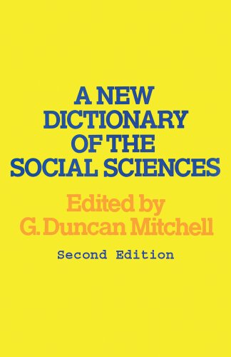 A New Dictionary of the Social Sciences