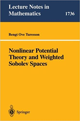 Nonlinear Potential Theory and Weighted Sobolev Spaces (Lecture Notes in Mathematics)