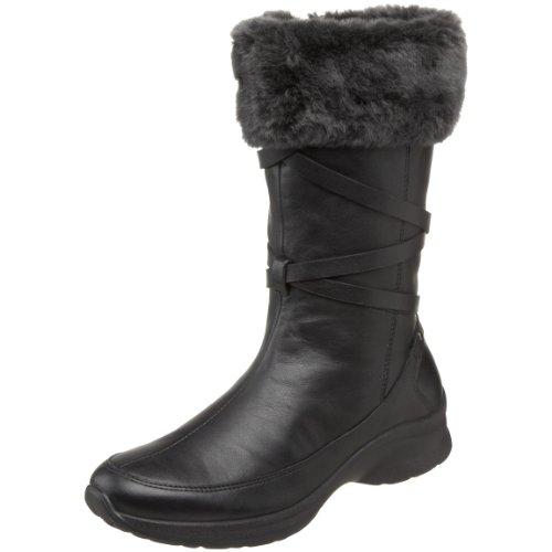 Spring Step Women's Giorgina Faux Fur Boot,Black,42 EU/10.5-11 M US