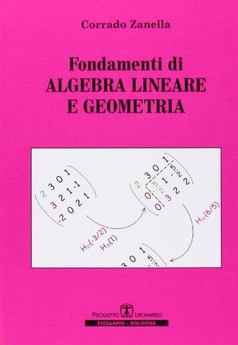 Fondamenti di algebra lineare e geometria PDF