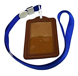 Ailisi Vertical Faux Leather Card Holder with Neck Strap Lanyard and Clip Pack of 10
