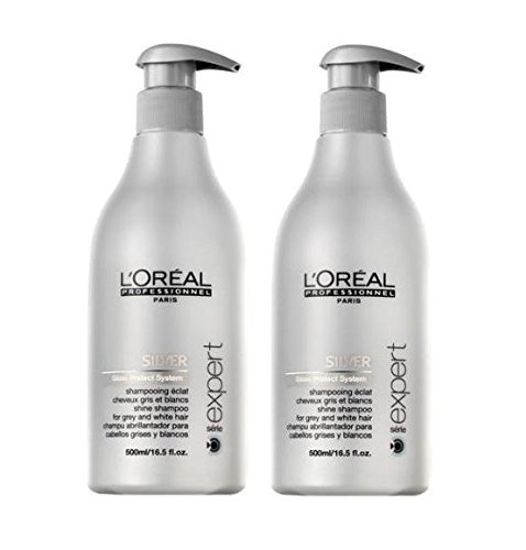 Loreal Silver lucido - Shampoo + pompa 2 x 500 ml Serie Expert Gloss Protect System