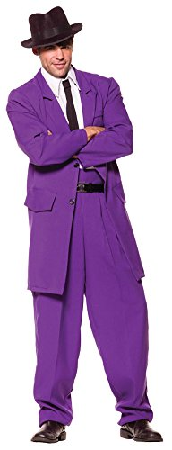 Zoot Suit Adult Costume Purple Standard Halloween Costume