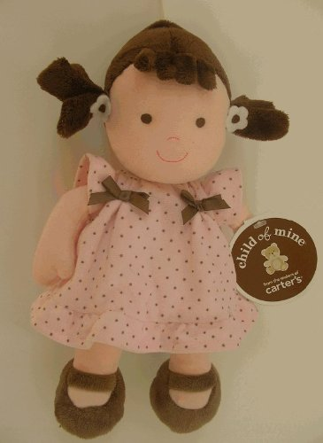 Carter's Child of Mine Brunette Baby Doll Pink and Brown Dress