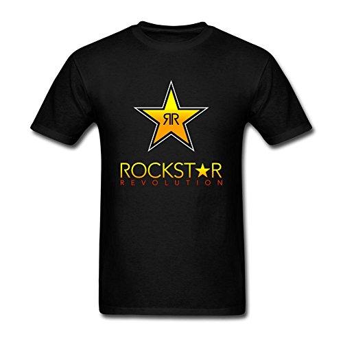 Futhure Men's Rockstar Energy Drink Cotton DIY T Shirt (Rockstar Energy Drink Shorts compare prices)
