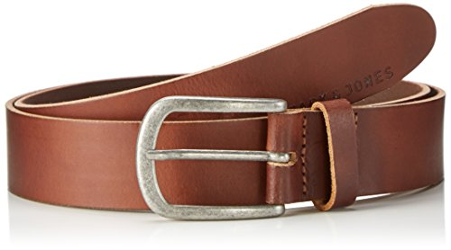 JACK & JONES JJIACE LEATHER BELT NOOS, Cintura Uomo, Marrone (Mocha Bisque), 95 cm ( 95)