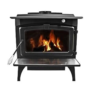 Pleasant Hearth 2,200 Square Feet Wood Burning Stove, Large