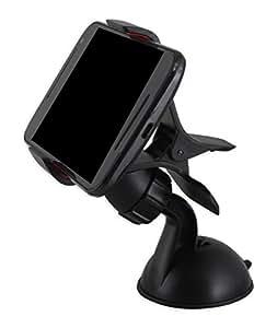 FliFit Universal Car Mount Holder Windshield Mobile Holder Stand,car holder,car mobile holder - Clip Type (Black)