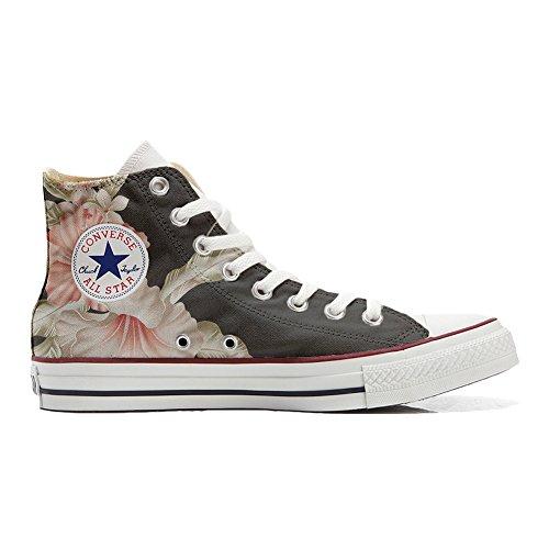 Converse All Star Chaussures Coutume (produit artisanal) fleurs Rosa