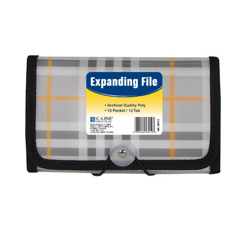 C-Line 13-Pocket Poly Expanding File, Coupon