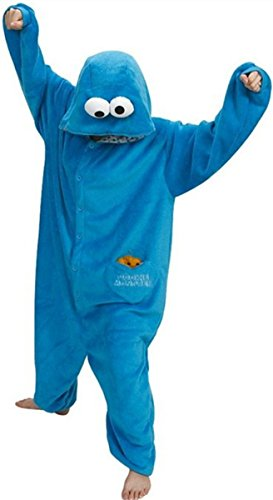 Women's Sesame Street Cookie Monster Pyjamas. 3 Sizes - many others available