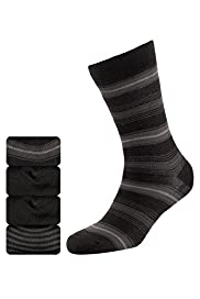 4 Pairs of Autograph Modal Blend Striped Socks