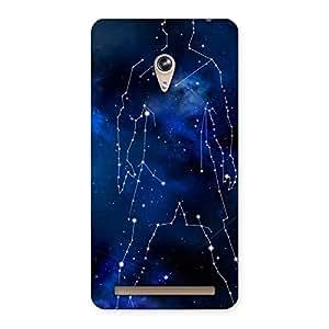 Delighted Star Man Multicolor Back Case Cover for Zenfone 6