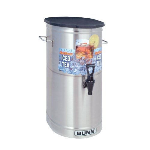 BUNN 34100 4-Gallon Iced Tea Dispenser with Solid Lid / Side Handles