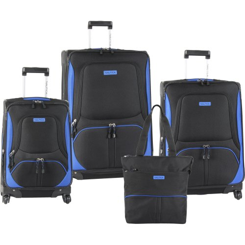 Nautica Downhaul 4 Pc Set, Black/cobalt Blue, One Size B007VCNVG0