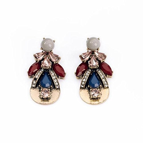 Holypink Tm - Earring Colorful Drop Gems Statements Gift Idea Fashion Original