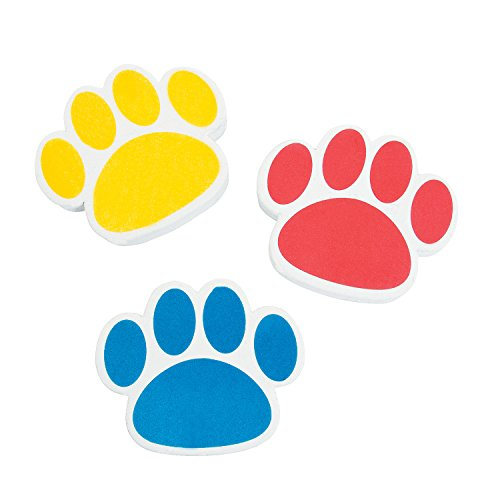 Paw Print Erasers - 24 ct - 1