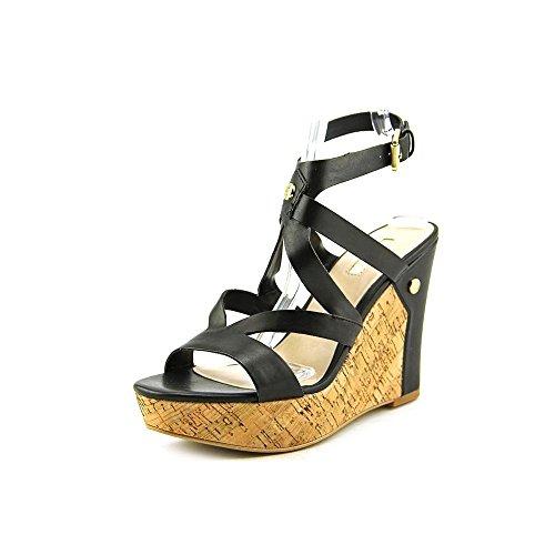 Guess Harlee Donna US 10 Nero Sandalo con la Zeppa