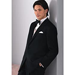 Single-Breasted 3 Button Single-vented Notch Lapel Wool Groom Wear