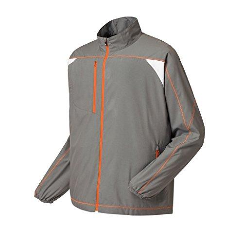 FootJoy Mens Superlite Shell Jacket (SteelGrey/White/Orange, Large)