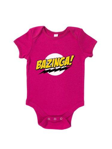Blue Ivory Bazinga Logo Baby Grow Novelty Joke Humour Funny front-982310