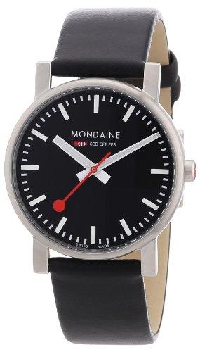 Mondaine - A658.30300.14SBB - Montre Homme - Quartz - Analogique - Bracelet Cuir Noir