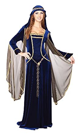 Rubie's Costume Deluxe Renaissance Faire Queen Costume, Blue, Small
