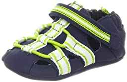 Robeez Beach Break Mini Sandal (Infant),Navy,3-6 Months M US Infant